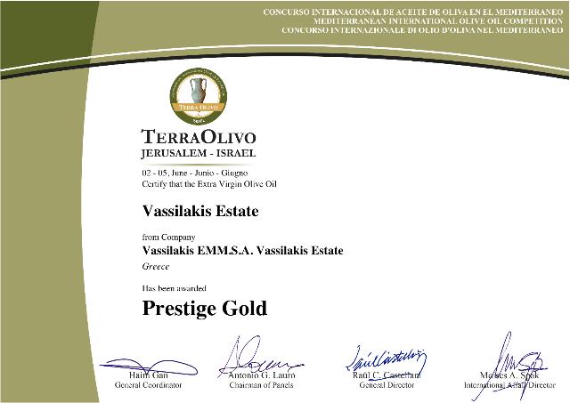 """Natives Olivenöl extra """"Vassilakis Estate""""  aus Kreta"""