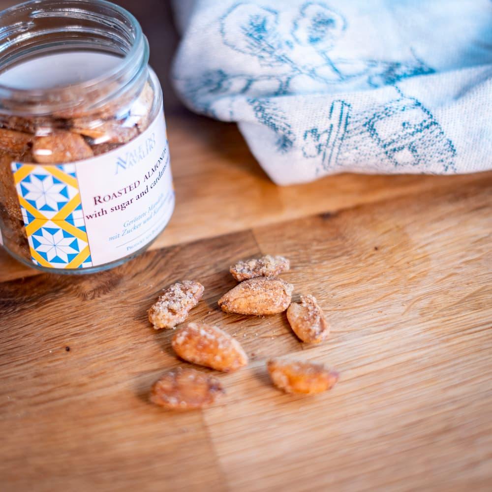 portugiesische geröstete Mandeln mit Zucker & Kardamom