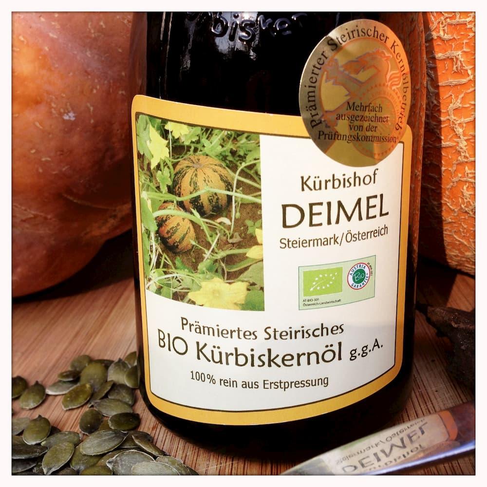 Steirisches Bio- Kürbiskernöl g.g.A-prämiert