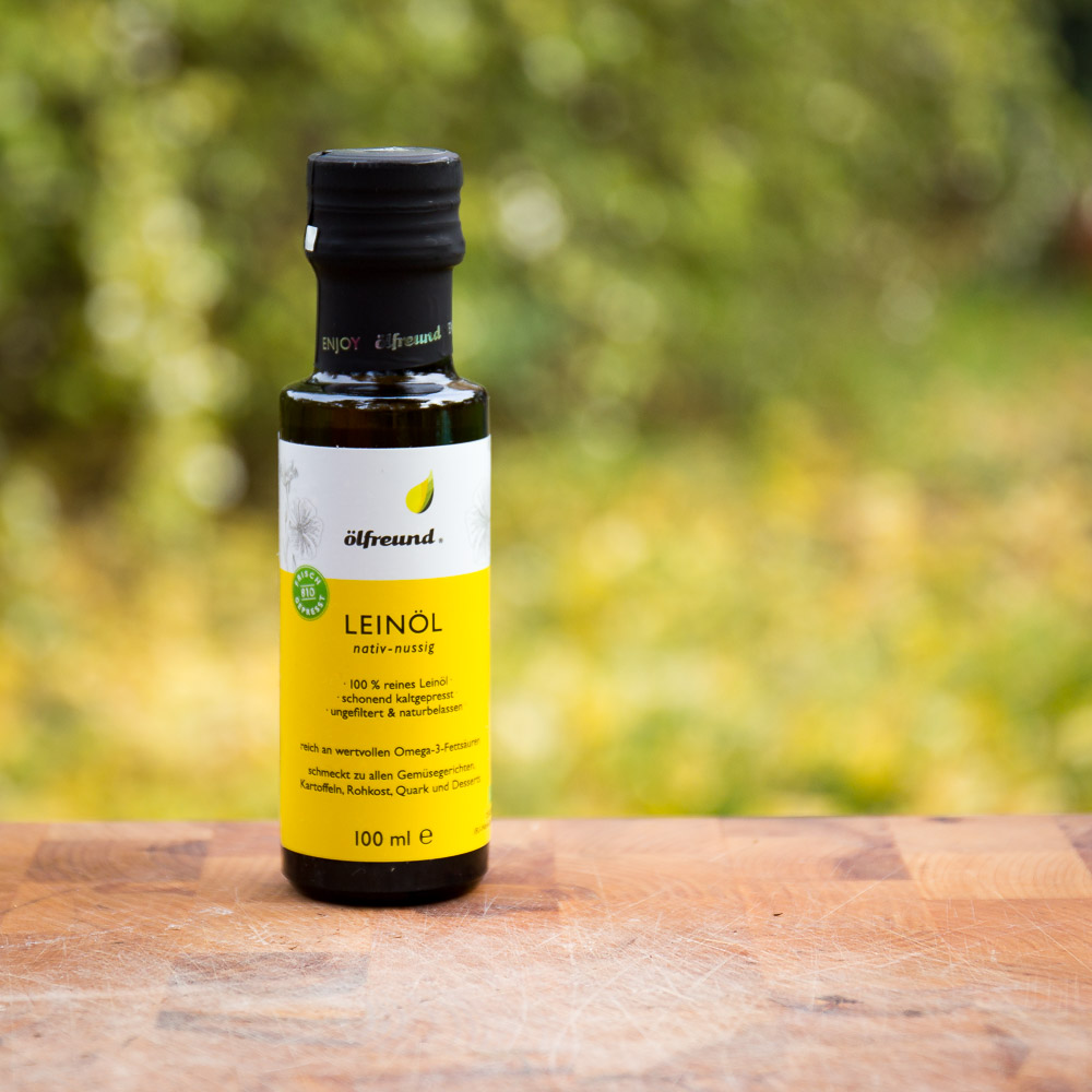 Bio Leinöl nussig nativ kaltgepresst ** superior Taste Award 2020
