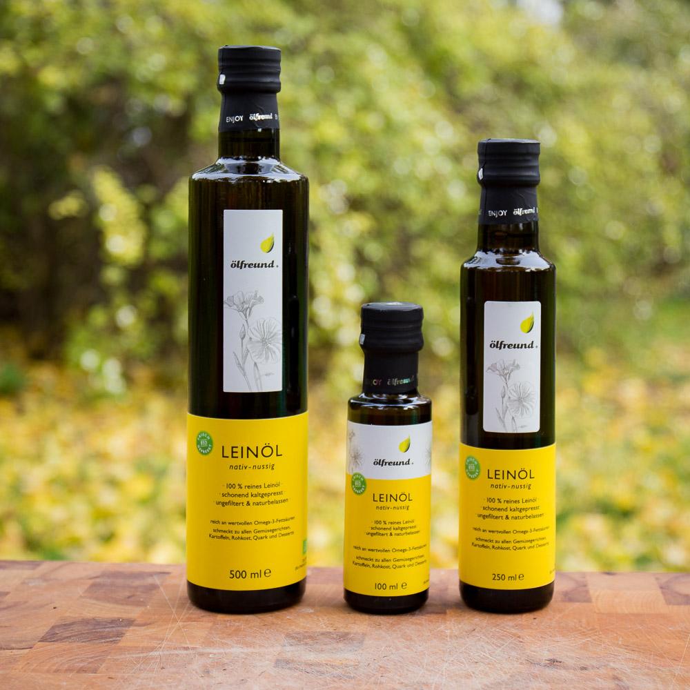 Bio Leinöl nussig nativ kaltgepresst