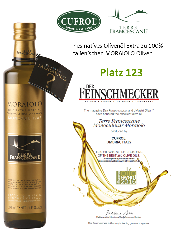 """Moraiolo"" natives Olivenöl extra - sortenrein"